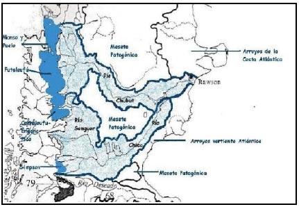 Cuencas hídricas Provincia de CHUBUT